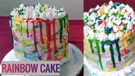 How to make vancho in malayalam. RAINBOW CAKE / Rainbow 🍰 recipe without oven in Malayalam / # 24 / FIA KITCHEN - YouTube