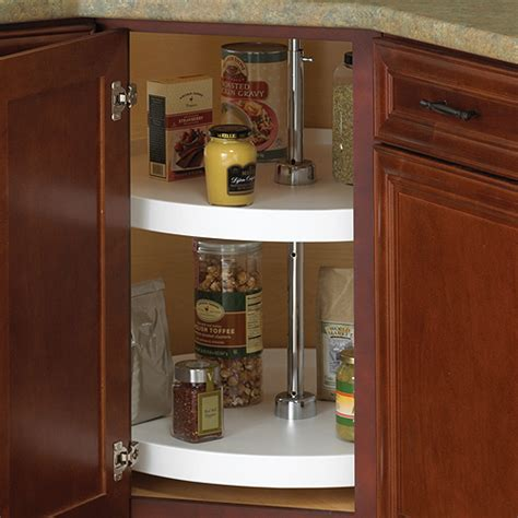 18 Inch Cabinet Lazy Susan  White  Fullround In Cabinet
