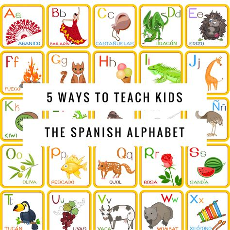spanish alphabet  ways  teach kids  images