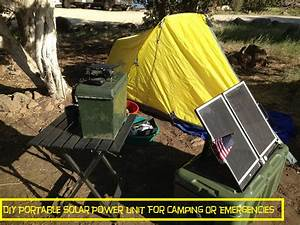 Diy Portable Solar Power Unit