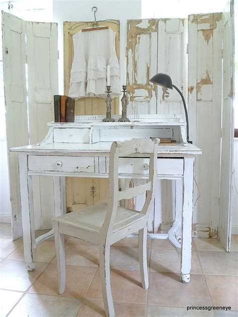 bureau brocante cottage chic home office space the shabby