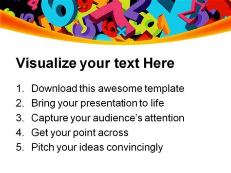 abstract numbers education powerpoint templates