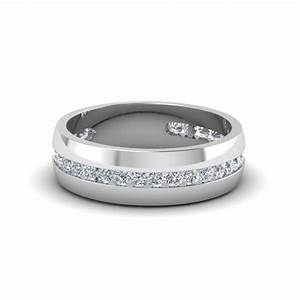 mens diamond channel wedding band in 14k white gold With white gold wedding rings mens