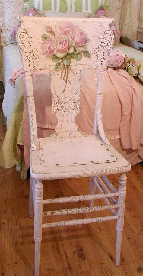 pink wooden chair chic shabby cottage look