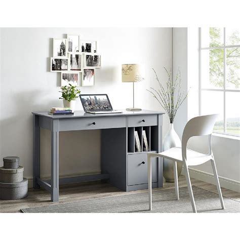 Office Desk Gray by Walker Edison Furniture Company Home Office Deluxe Grey