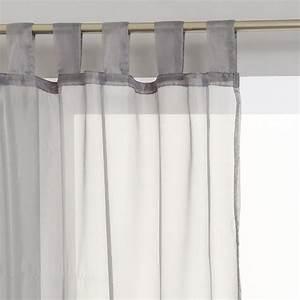 Voilage à Pattes : lot de 2 rideaux voilage pattes 140x240cm gris ~ Teatrodelosmanantiales.com Idées de Décoration
