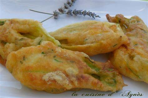 beignets de fleurs de courgette la cuisine d agn 232 sla