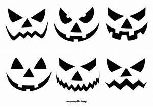 Kürbis Schnitzvorlagen Zum Ausdrucken Gruselig : halloween k rbis gesichter sammlung kostenlose vektor kunst archiv grafiken bilder ~ Markanthonyermac.com Haus und Dekorationen