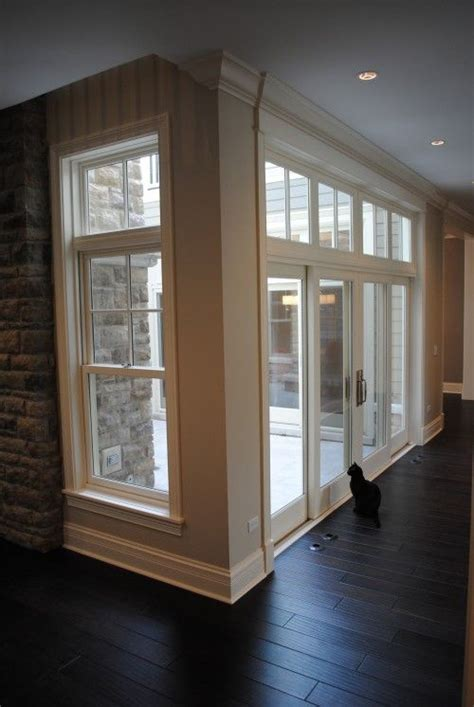 stone windows french doors transoms wood floors mouldings   home pinterest