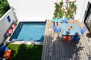 petite terrasse avec piscine slowgarden cote maison With amenagement jardin petite surface 2 idees deco un balcon inspirant
