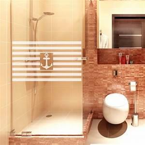 Dusche Folie Glas : streifen anker dusche aufkleber wandtattoos ~ Frokenaadalensverden.com Haus und Dekorationen