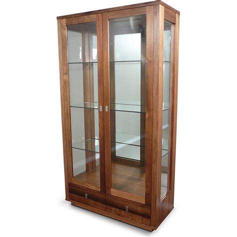 Hamilton Blackwood Timber & Glass Display Cabinet  Buy