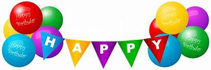 Balloons Birthday Happy Clip Transparent Deco Clipart