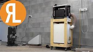 DIY Mobile Planer Cart With Built In Dust Collection - YouTube
