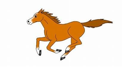 Horse Animated Chestnut Clipart Clip Gold Morris