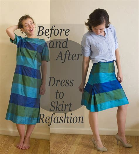 Dress to Skirt Refashion   AllFreeSewing.com