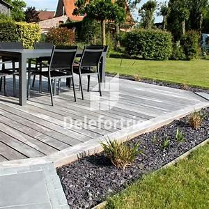 Bois Exotique Pour Terrasse : terrasse mixte bois exotique et pierre bleue delefortrie ~ Dailycaller-alerts.com Idées de Décoration