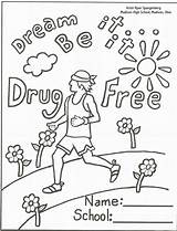 Ribbon Week Coloring Drugs Pages Say Printable Anti Drug Sheets Smoking Activities Sheet Recovery Drawing Adults Pills Colouring Printables Books sketch template