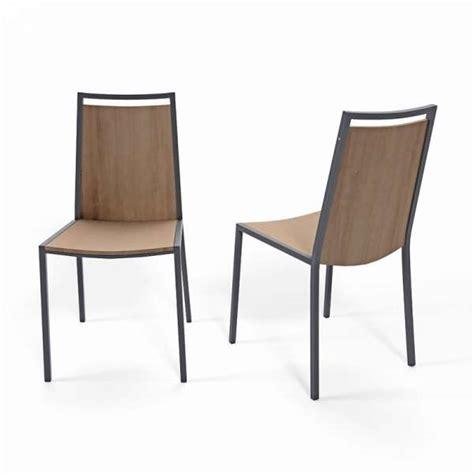 chaises de cuisine en bois chaise de cuisine en métal et bois concept 4 pieds