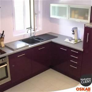 Cuisine Couleur Aubergine : cuisine design en u couleur aubergine oskab ~ Premium-room.com Idées de Décoration