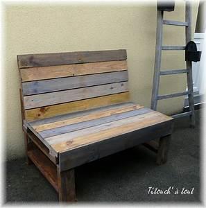 Palette De Bois : banc en bois de palette ~ Premium-room.com Idées de Décoration