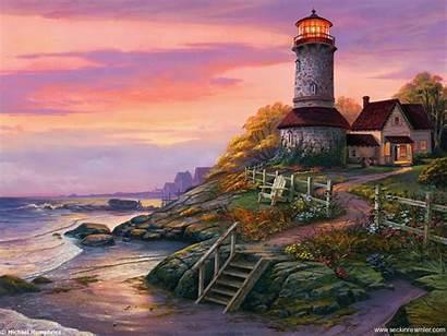 Lighthouse Screensavers Wallpapers Wallpapersafari Resimler Boya Yal