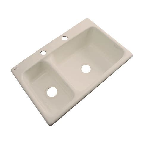 Thermocast Wyndham Drop In Acrylic 33 in. 2 Hole Double