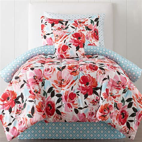jcpenney home floral complete bedding with sheets jcpenney