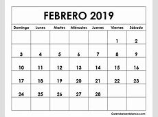 Calendario febrero 2019 para imprimir Download 2019