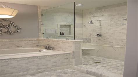 grey bathroom fixtures carrara marble tile bathroom ideas