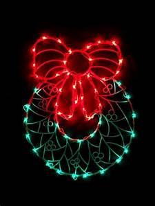 22, 99-, 24, 99, 17, U0026quot, Lighted, Wreath, With, Bow, Christmas, Window, Silhouette, Decoration