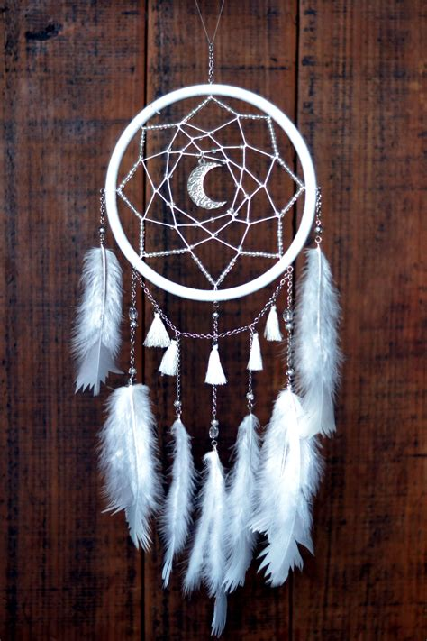 moon dreamcatcher atrapasuenos diy ensuenos beautiful