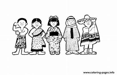 Coloring Diversity Pages Printable Info