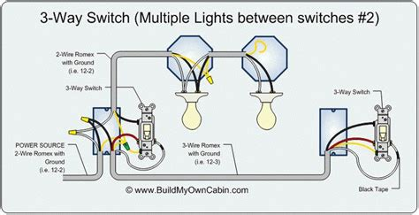 Both A Power Switch And Schematic Wiring by 3 Way Switch Diagram Lights Between Switches