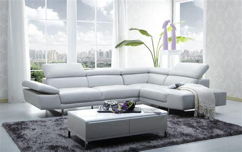 1717 Italian Leather Modern Sectional Sofa