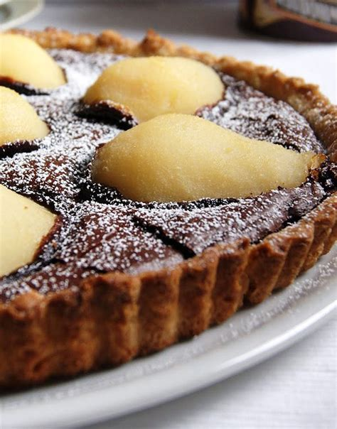 chocolate pear tart recipe eatwell
