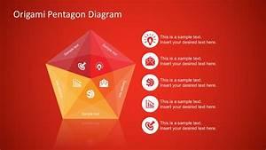 Free Origami Style Pentagon Powerpoint Diagram