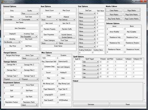 Trintycore Template by Trinitycore Win Item Creator With Gui