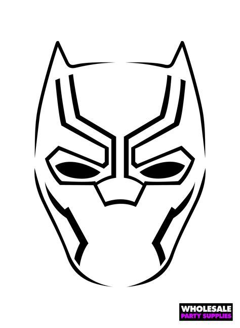 black panther mask template pumpkin stencils ideas activities by wholesale supplies