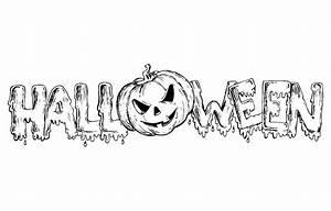 Dessin D Halloween Facile : halloween texte coloriage halloween coloriages pour ~ Dallasstarsshop.com Idées de Décoration