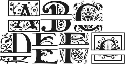 split letter monogram fonts freepng   monogram fonts  font lettering