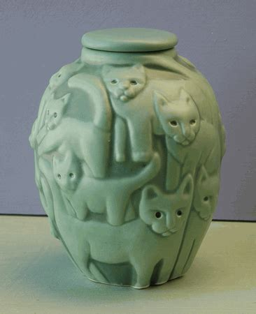 unique artist  cat urn  pet ashes