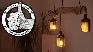 Led Flaschen Beleuchtung Selber Bauen : esstischlampe lampe selber bauen machen anleitung diy flaschenlampe treibholz led eng sub ~ Watch28wear.com Haus und Dekorationen