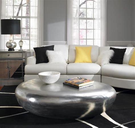 teppich silber glänzend couchtische und stylische dekoration in naturoptik woll
