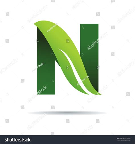 green eco letters logo leaves stock vector 428112841 green eco letters n logo leaves stock vector 388427530