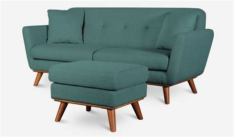 teal armchair and footstool hanford ottoman teal