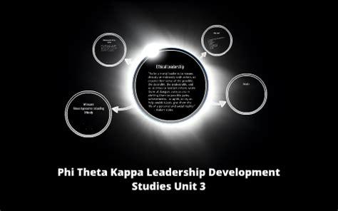 phi theta kappa leadership development studiesvunit