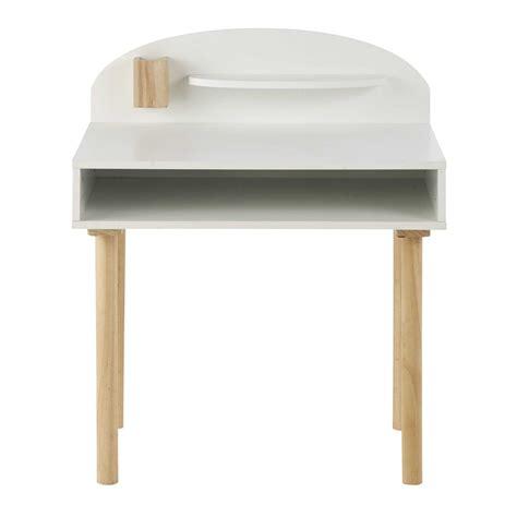 bureau bois et blanc bureau enfant en bois blanc l 70 cm nuage maisons du monde