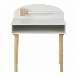 Bureau Enfant En Bois : bureau enfant en bois blanc l 70 cm nuage maisons du monde ~ Teatrodelosmanantiales.com Idées de Décoration