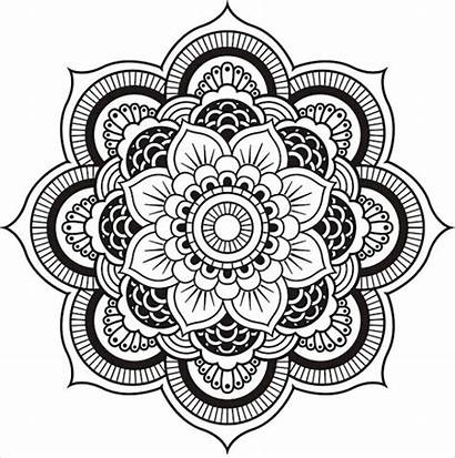 Mandala Coloring Pages Easy Designs Patterns Flower